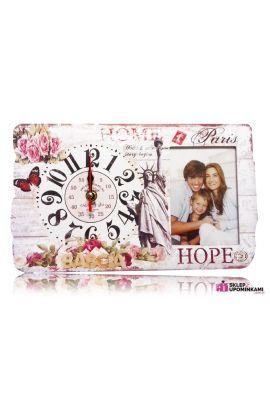 zegar i ramka na zdjęcie prezent babci