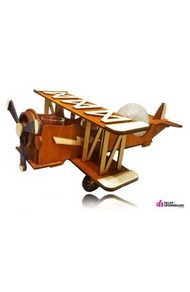 Samolot barek drewniany prezent Emerytura