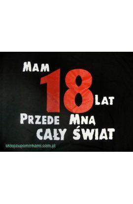 koszulka z napisem na 18 urodziny