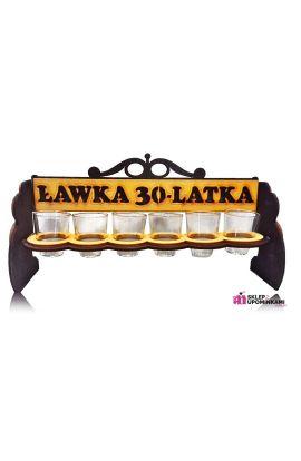 kieliszki na stojaku na 30 urodziny