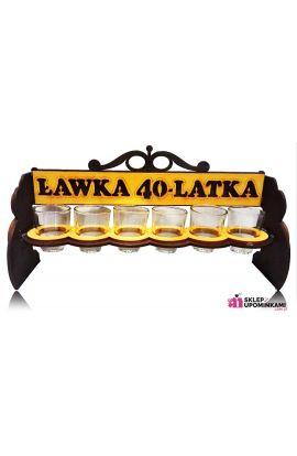 stojak kieliszki prezent na 40 urodziny