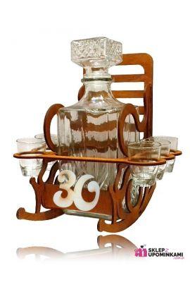 stojak fotel kieliszki na 30 urodziny