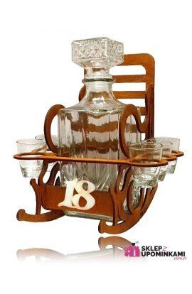 stojak fotel kieliszki na 18 urodziny