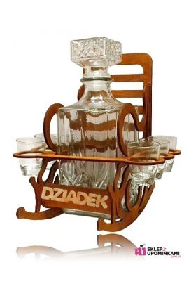 kieliszki na stojaku fotel dla dziadka