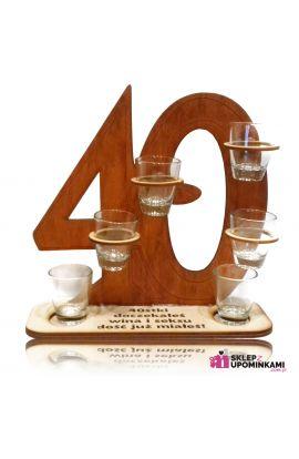 smieszne klieliszki prezent 40 urodziny