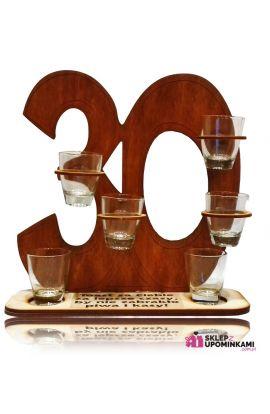 kieliszki na stojaku prezent na 30 urodziny