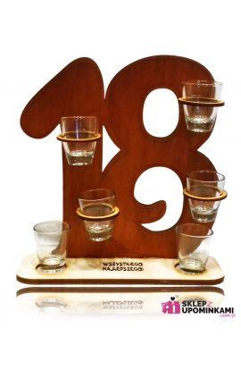 kieliszki na stojaku prezent na 18 urodziny