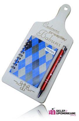prezenty dla babci notes długopis deska kuchenna