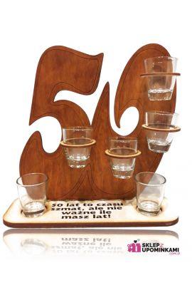 kieliszki na stojaku prezent na 50 urodziny