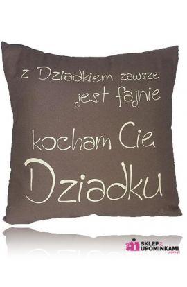 Poduszka z napisem prezent Dziadka Dziadkowi