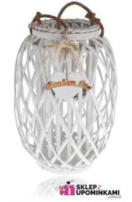 Lampion wiklinowy prezent personalizowany