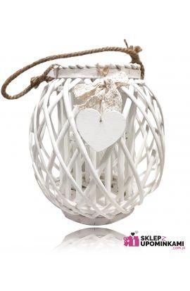 Lampion wiklinowy ładny prezent
