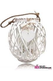 Lampion wiklinowy ozdobny personalizowany prezent