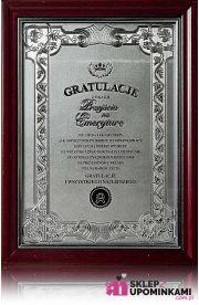 Dyplom Certyfikat pamiątka na Emeryturę