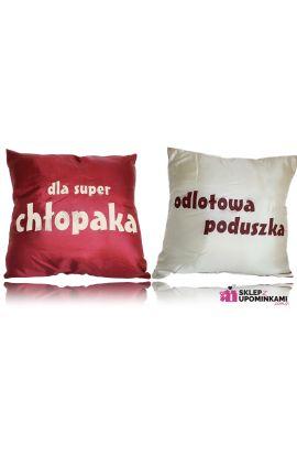 poduszka z napisem dla chłopaka