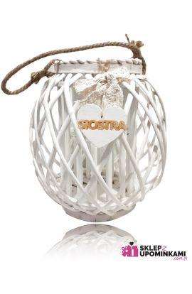 Lampion wiklinowy ozdobny duży