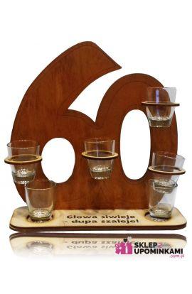 kieliszki na stojaku Liczba 60 urodziny