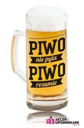 kufel do piwa z napisem