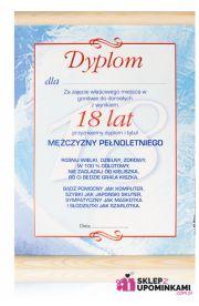 Dyplom życzenia 18 Urodziny Chłopaka