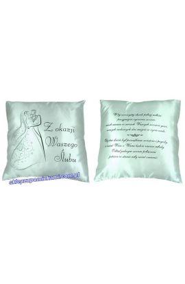 poduszka z napisem na prezent ślubny