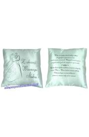 Poduszka z napisem na Ślub