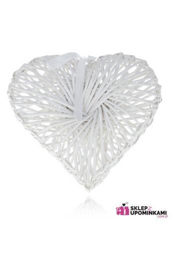 serce dekoracje z wikliny
