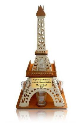 kieliszki barek wieża na rocznicę ślubu