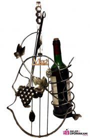 Stojak na wino Skrzypce z dedykacją