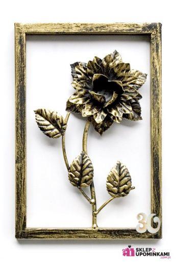 Obraz róże metaloplastyka z dedykacją