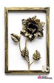 Obraz metalowa Róża na urodziny
