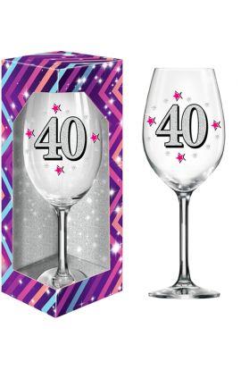 Kieliszki na 40 Urodziny XL