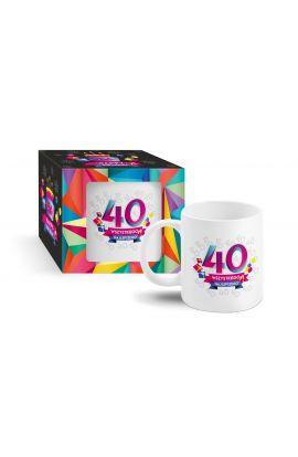 śmieszny kubek na 40 urodziny