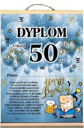 Dyplom okolicznościowy 50 Urodziny Życzenia Pana