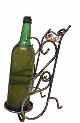 Stojak na wino z napisem