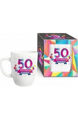 kubek z napisem na 50 urodziny