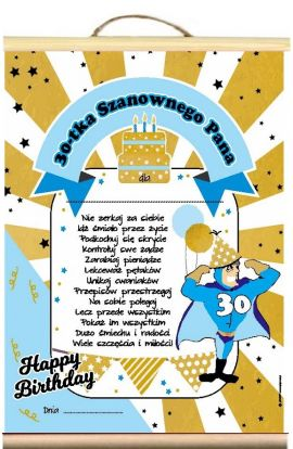 dyplom życzenia na 30 Urodziny Pana