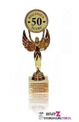 statuetka życzenia na 50 rocznicę slubu