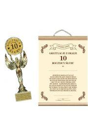 Statuetka i Dyplom na 10 Rocznicę Ślubu