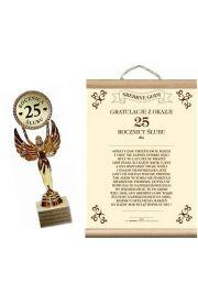 Statuetka i Dyplom na 25 Rocznicę Ślubu