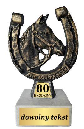 Statuetka Podkowa na 80 Urodziny