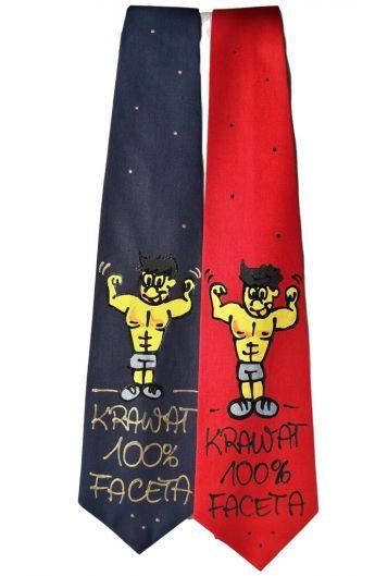 krawat z napisem dla 100 % faceta