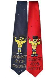 Krawat z napisem 100 % Faceta