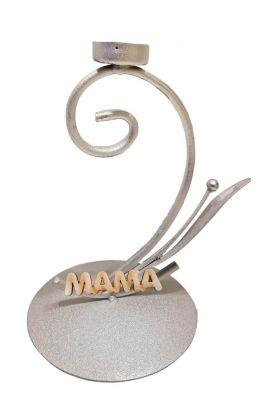 Świecznik metalowy z napisem