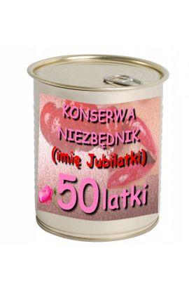 konserwa na 50 urodziny