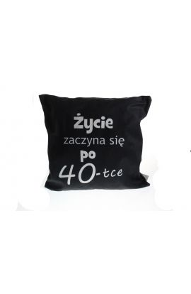 poduszka z napisem na 40 urodziny