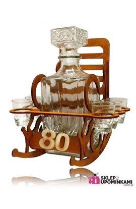 Kieliszki na 80 Urodziny stojak Fotel