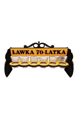 Kieliszki Stojak na 70 Urodziny Ławka