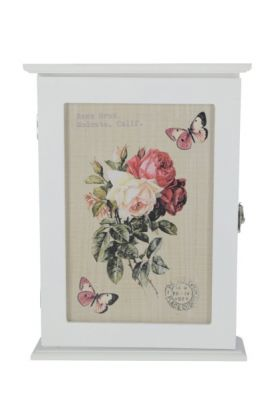 Skrzynka na klucze Klucznica róże