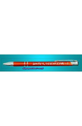 długopis z napisem super dziewczyna