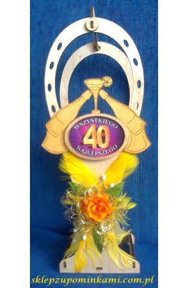 stojak na butelkę prezent 40 urodziny